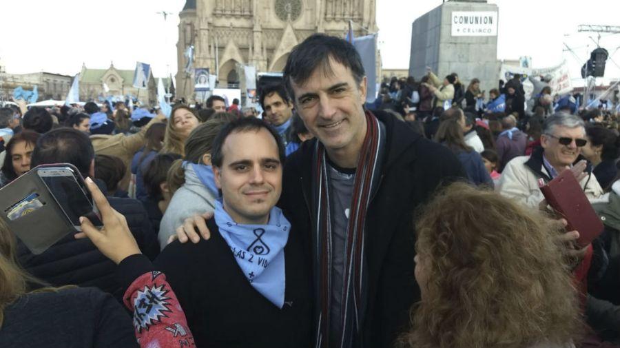 Esteban Bullrich, senador nacional por Cambiemos, uno de los protagonistas de la movilización.
