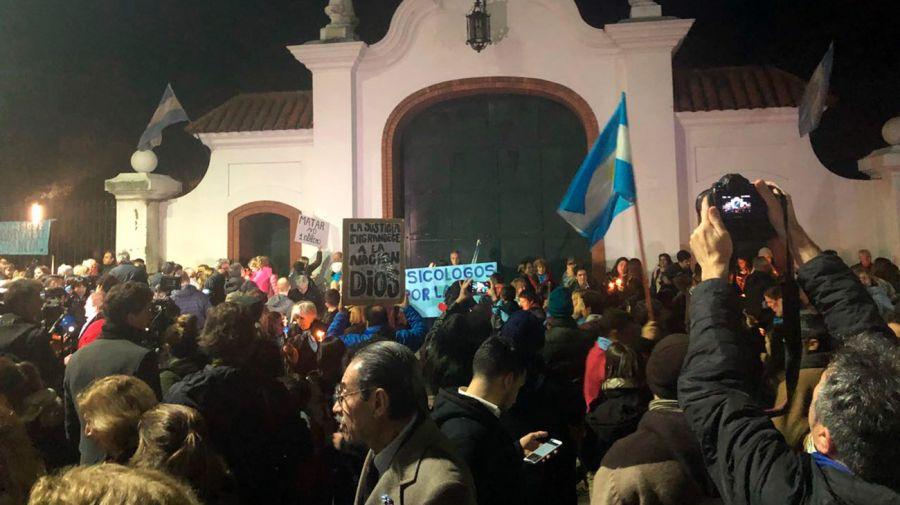 Marcha en Olivos contra el aborto