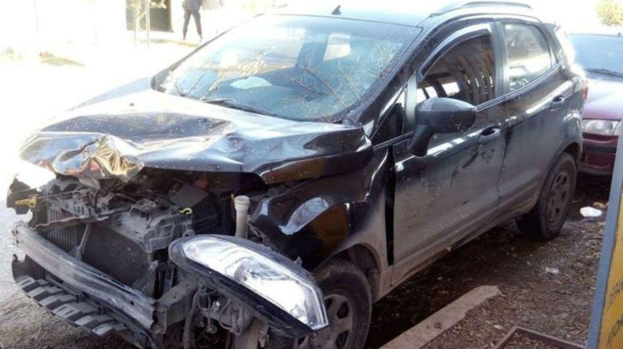 Así quedó el vehículo que conducía Fabio Correa, que embistió a Federico Rearte. Foto: Cedoc