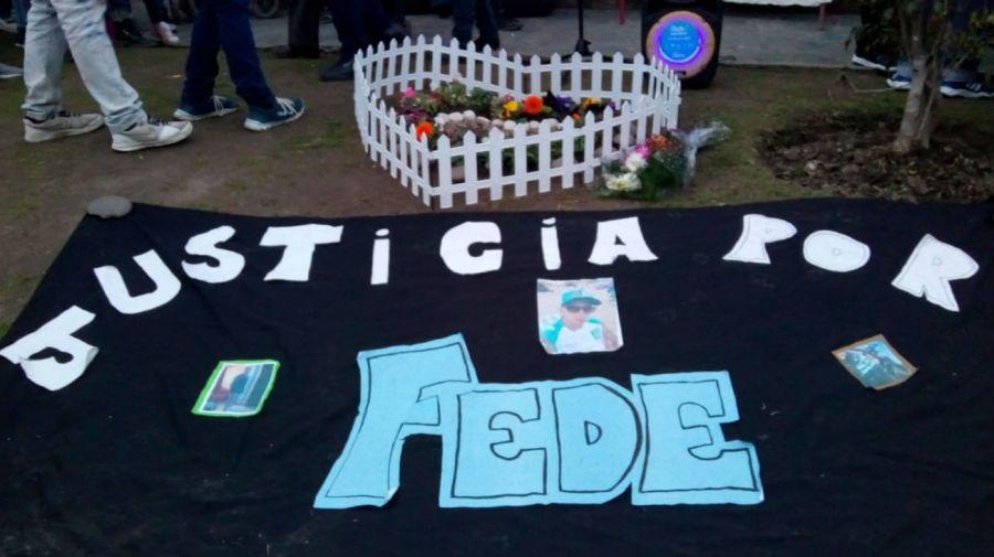 Uno de los reclamos de Justicia por Federico Rearte. Foto: Cedoc
