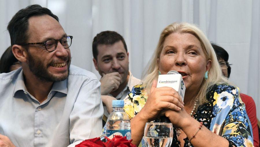 La líder de la CC junto al legislador Maximiliano Ferraro.