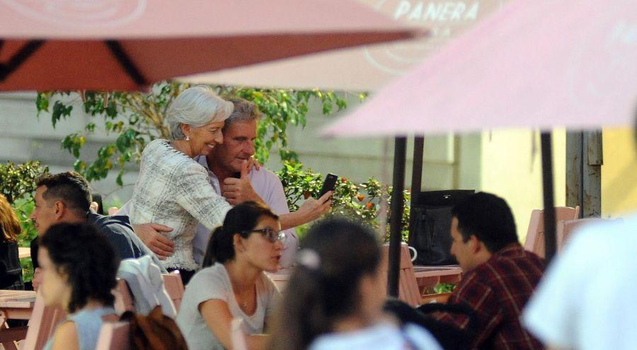 Lagarde y su pareja.