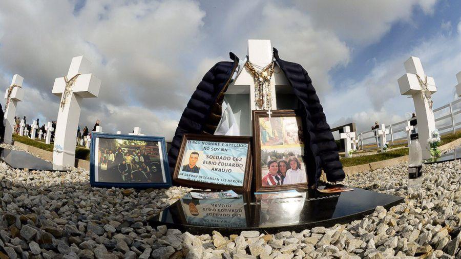 Homenaje a los soldados caídos en Malvinas