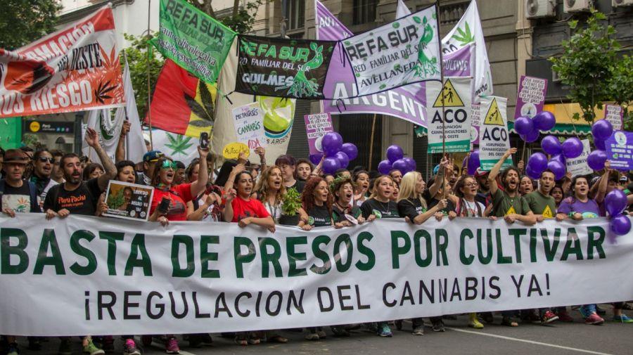 Marcha por la legalización de la marihuana. En 2020, por el coronavirus, el reclamo fue virtual.