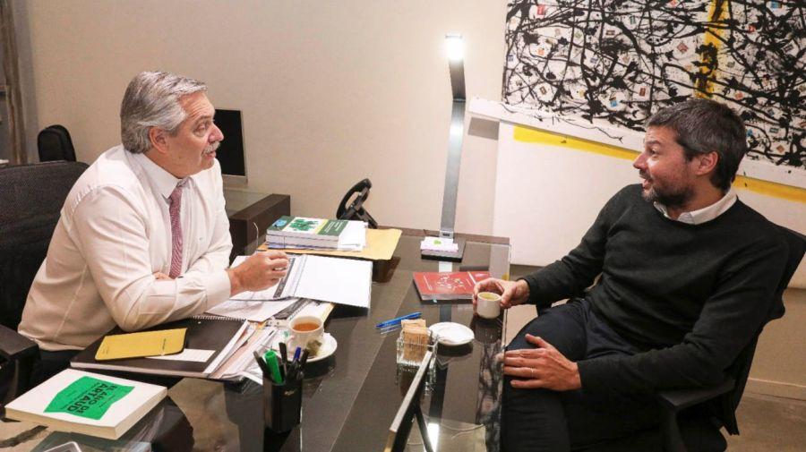 Matías Lammens, junto al presidente Alberto Fernández