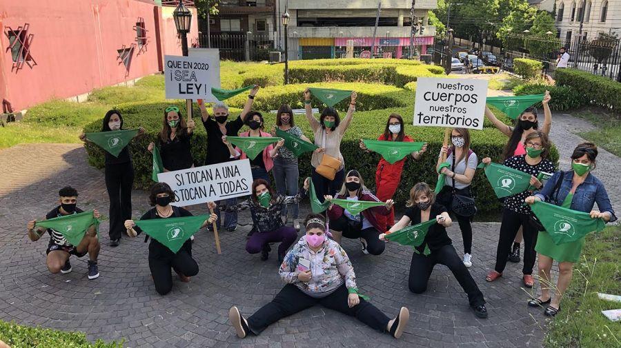 Campaña por la legalización del aborto. Foto: Gentileza Escritoras Argentinas.