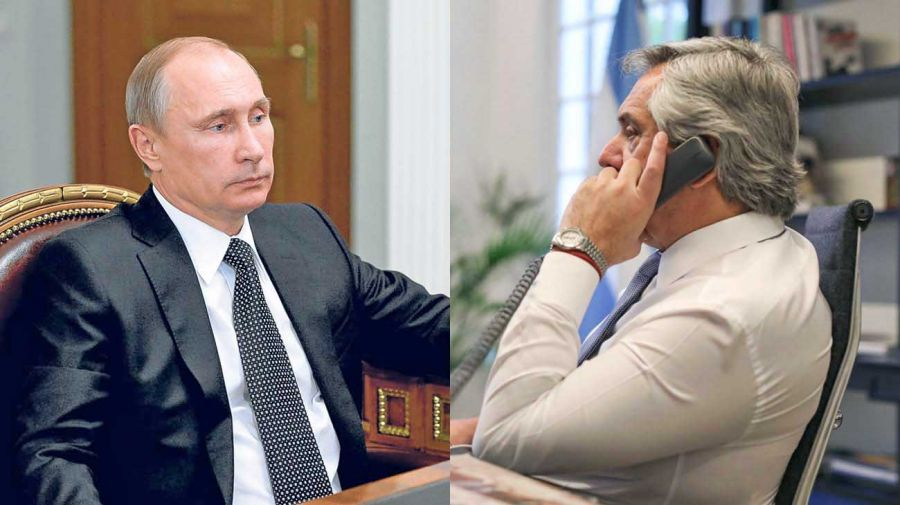 Vladimir Putin y Alberto Fernández