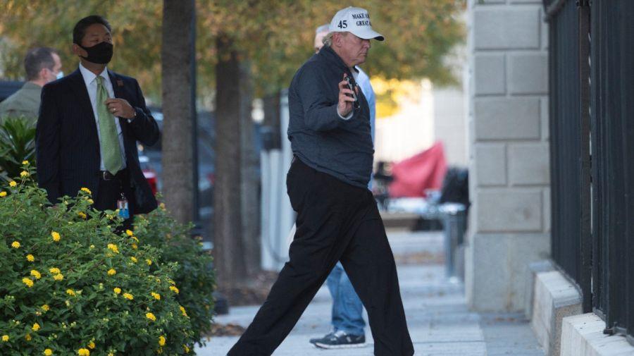 Donald Trump en su regreso a la Casa Blanca. Foto: AFP.