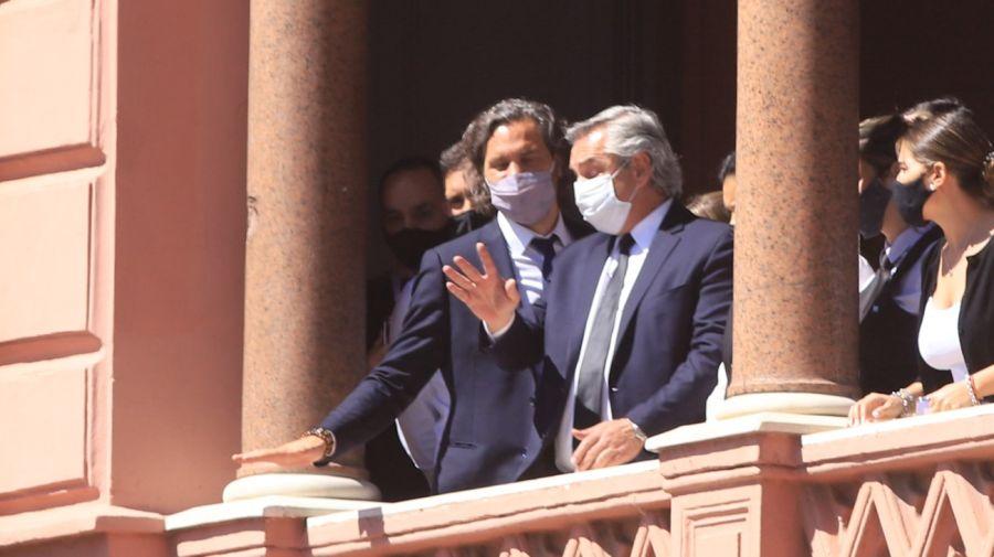Alberto Fernández tuvo que salir a pedir calma en Casa Rosada en medio de los incidentes