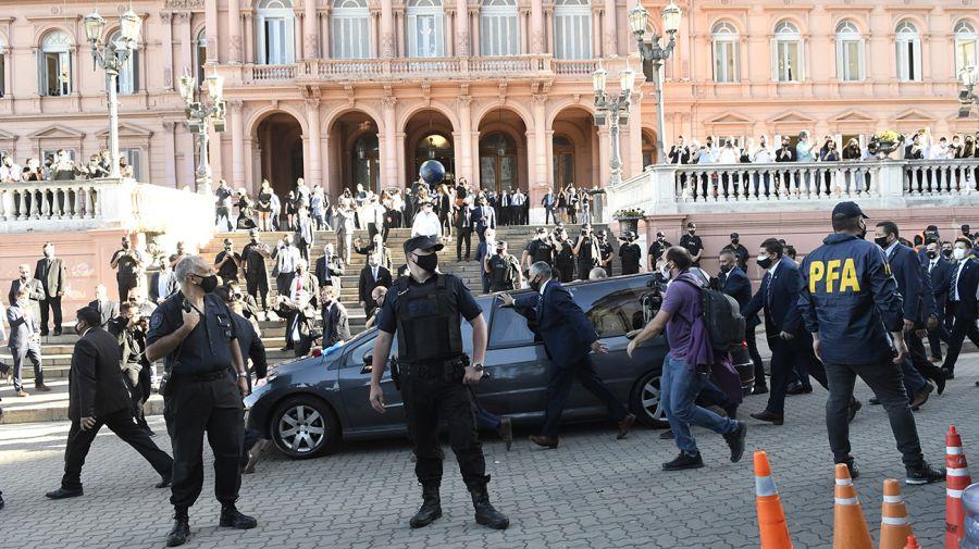 Funeral de Maradona en Casa Rosada.