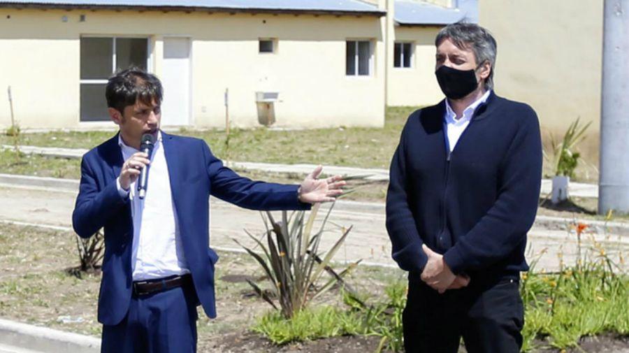 Axel Kicillof junto a Máximo Kirchner
