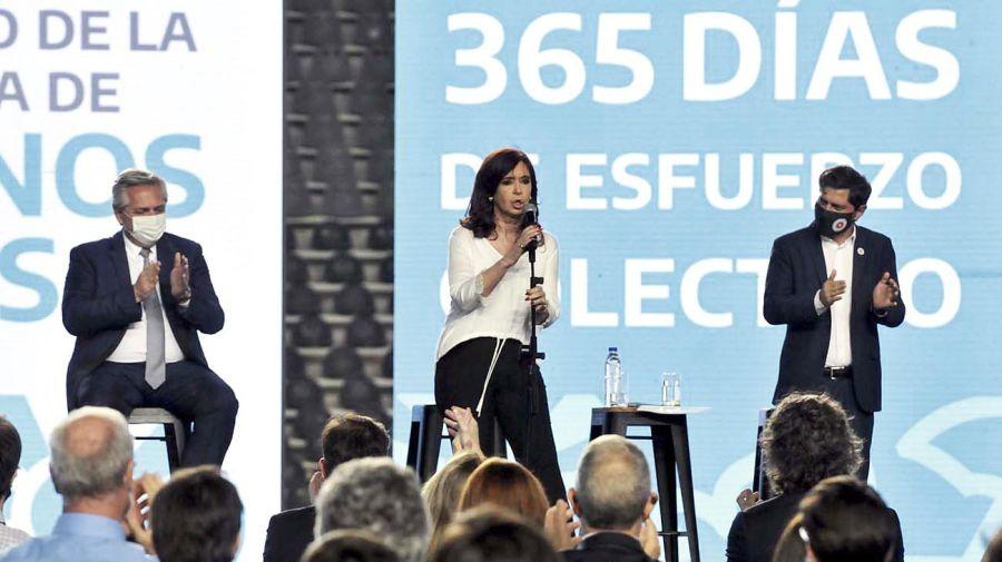 Cristina Kirchner en el acto del viernes