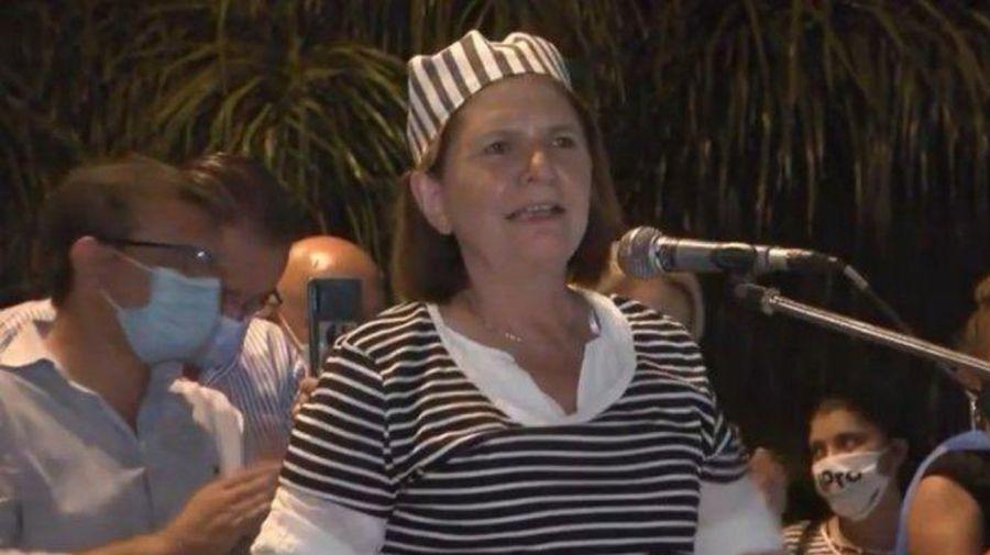Patricia Bullrich, vestida de presa en Formosa