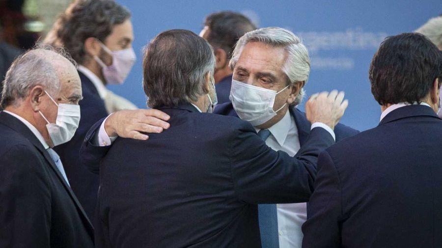 Martín Soria con Alberto Fernández