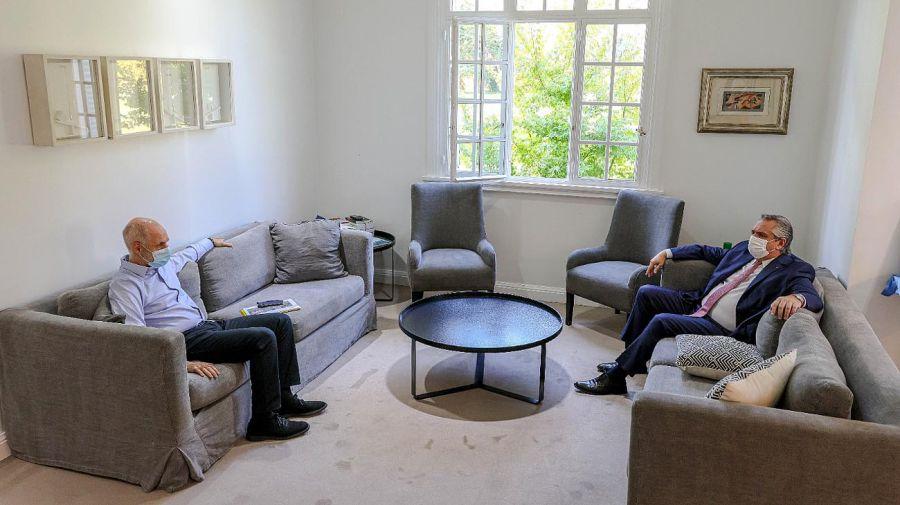 Cumbre de Olivos Alberto Fernández y Horacio Rodríguez Larreta por nuevas restricciones en cuarentena