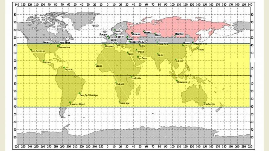 Las zonas donde podría impactar el cohete chino