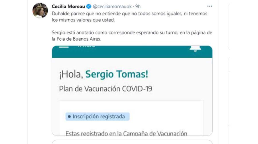 El tuit de Cecilia Moreau