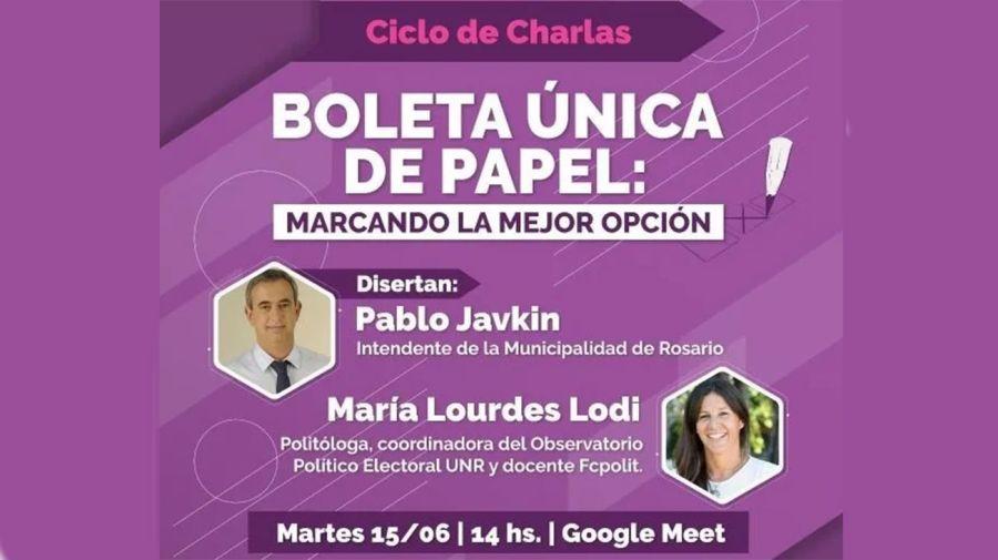charla virtual en Rosario