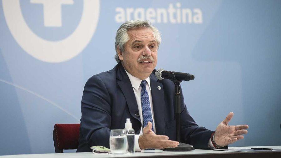 Alberto Fernández en el Museo del Bicentenario