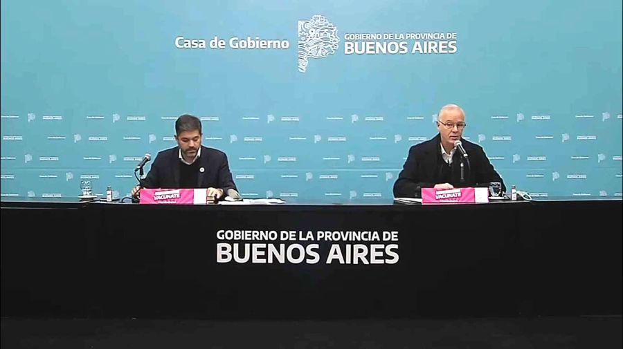Conferencia de prensa del jefe de gabinete, Carlos Bianco, y el ministro de salud, Daniel Gollán
