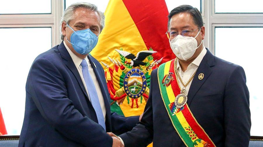 Alberto Fernández y Luis Arce