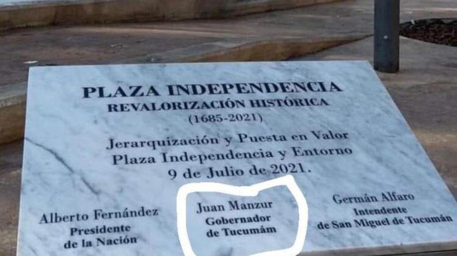 Tucuman misspelled plaque