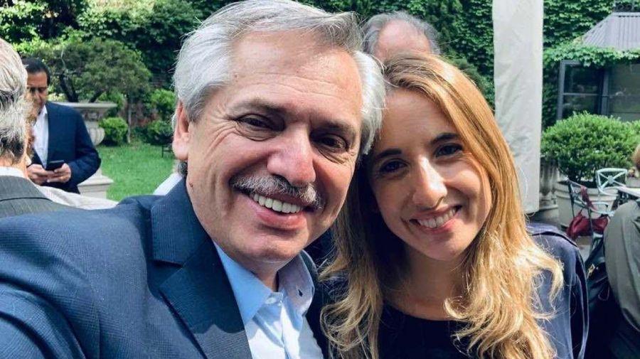 Cecilia Nicolini con el presidente Alberto Fernández.