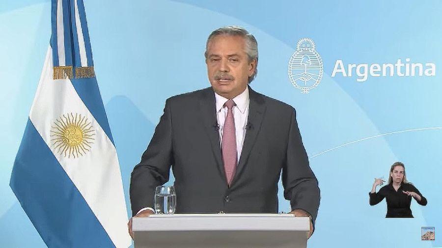 Cadena Nacional Alberto Fernández
