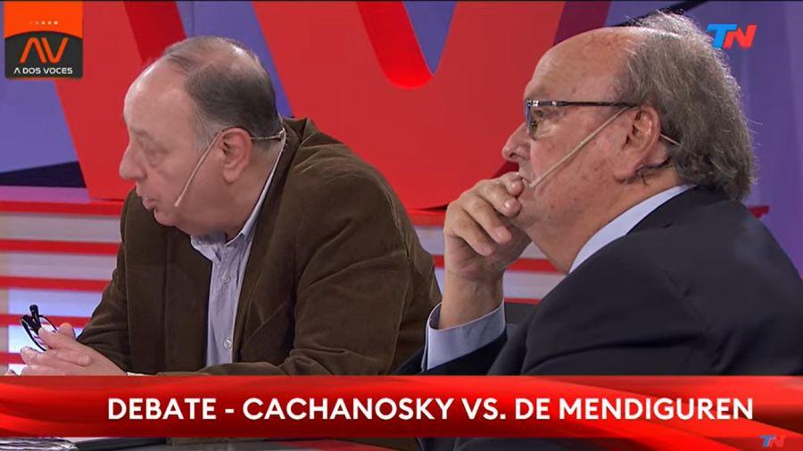 Roberto Cachanosky se cruzó con Ignacio De Mendiguren