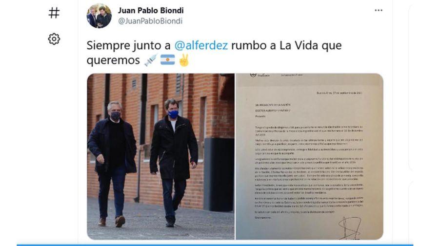 renuncia Juan Pablo Biondi
