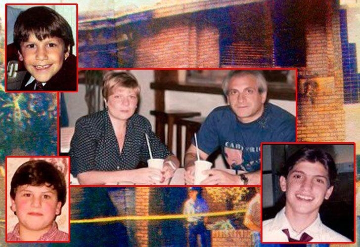 José Bagnato, Alicia Plaza, sus hijos Fernando y Alejandro y Nicolás Borda: las víctimas.