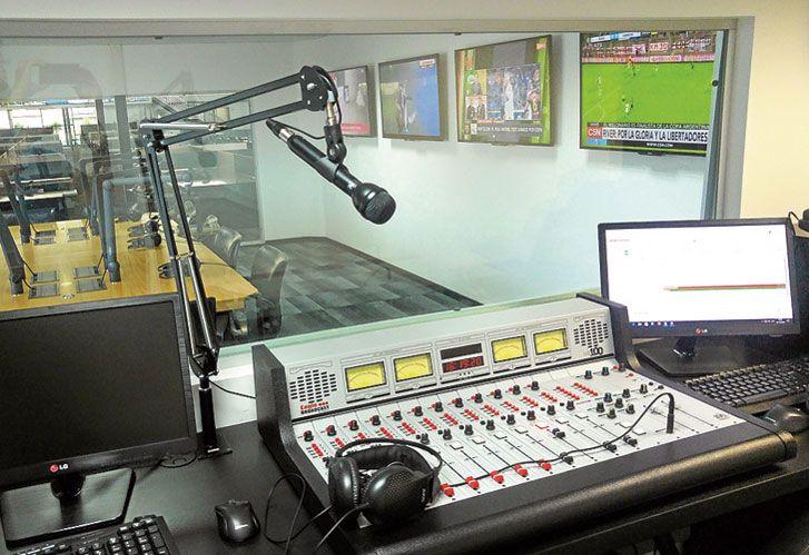 Los estudios de Radio Perfil.