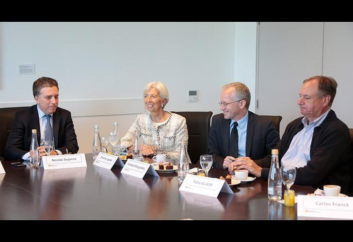 Conferencia de Christine Lagarde y Nicolás Dujovne en la Universidad Torcuato Di Tella.