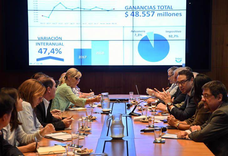 Leandro Cuccioli, titular de AFIP, informó que la recaudación impositiva creció 12,5% en marzo. Foto: Télam.