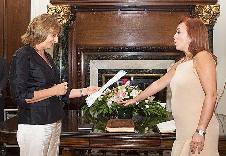 Gabriela Boquín, fiscal a cargo del caso, en la toma de juramento ante Gils Carbó en 2015