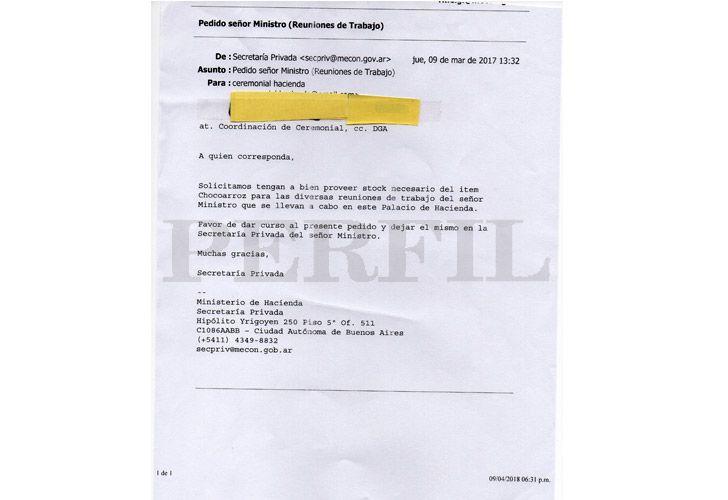 Gastos Nicolás Dujovne 04282018