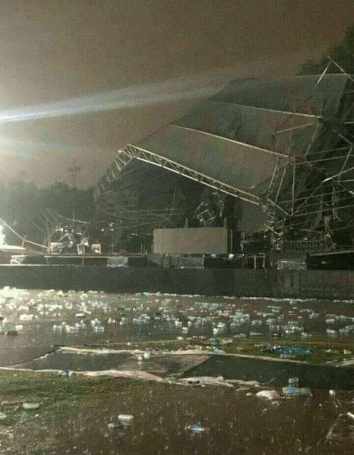 Así quedó el escenario tras el temporal.