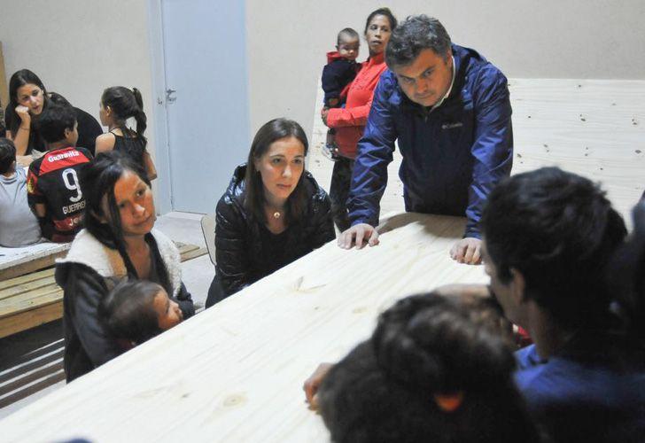 María Eugenia Vidal y el ministro de Desarrollo Social bonaerense, Santiago López Medrano.