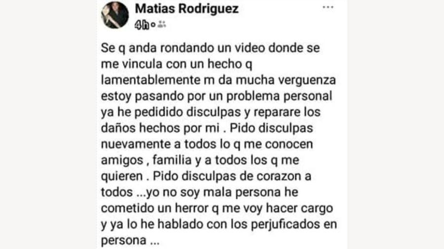 Matías Rodríguez en Twitter