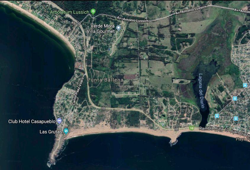 Mapa con la zona de la propiedad que pertenece a la offshore.