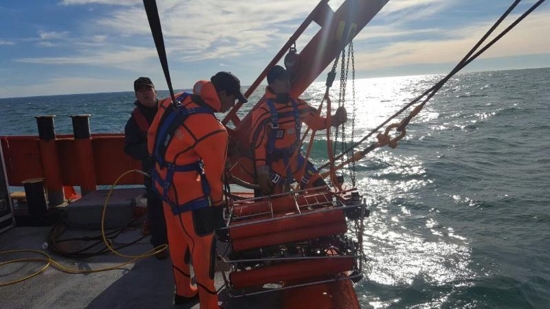 Imágenes de la búsqueda del pesquero Rígel, por parte de Prefectura Naval Argentina.