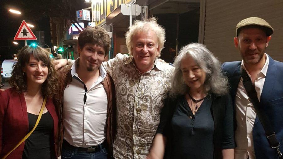 Ariel Eberstein con Martha Argerich