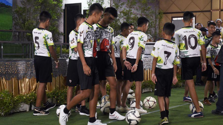 Chicos de Tailandia conferencia de prensa07182018