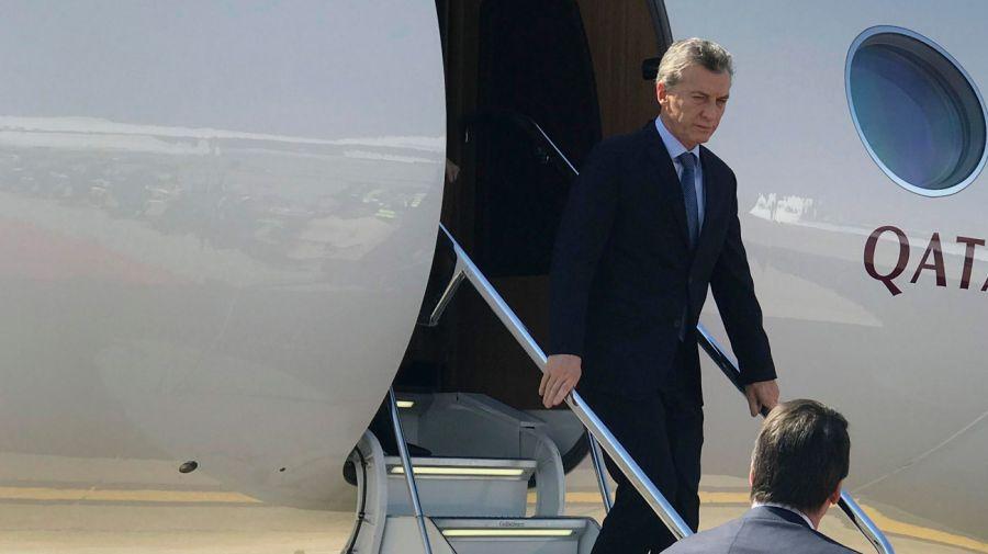 Macri llegó a Sudáfrica 07262018