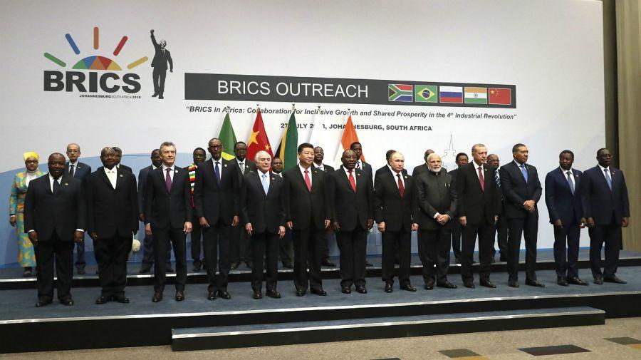 Mauricio Macri, en la Cumbre de los BRICS, en Sudáfrica.