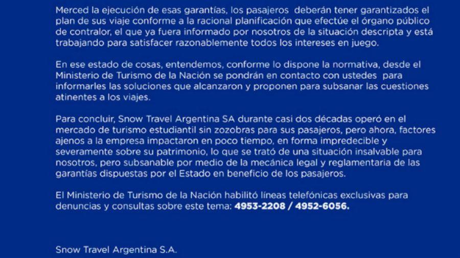 A pesar de la quiebra de Snow Travel, los chicos podrían viajar a Bariloche