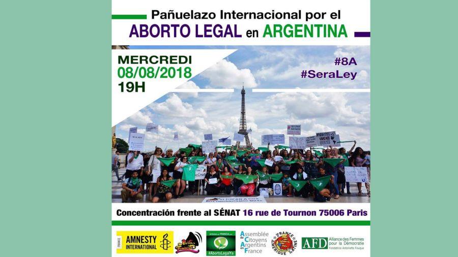 apoyo internacional por la ley del aborto en argentina 08082018