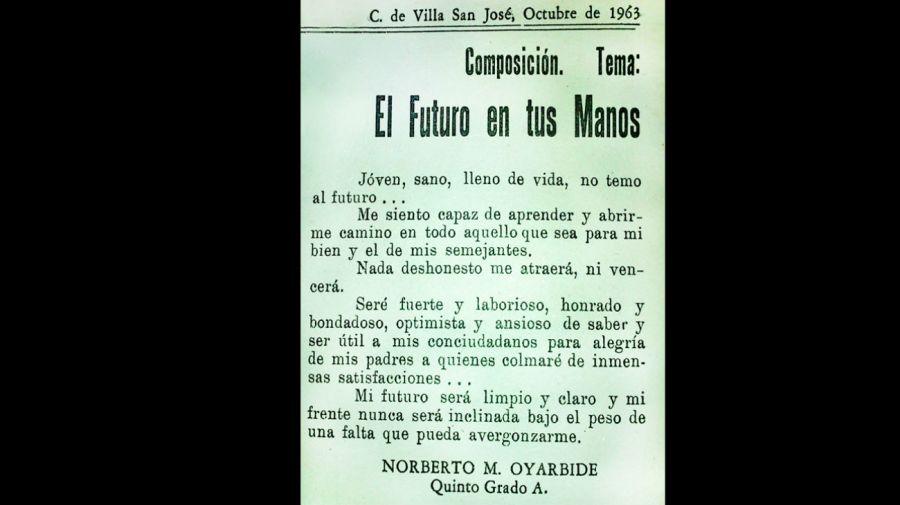 El Alumno Norberto Oyarbide
