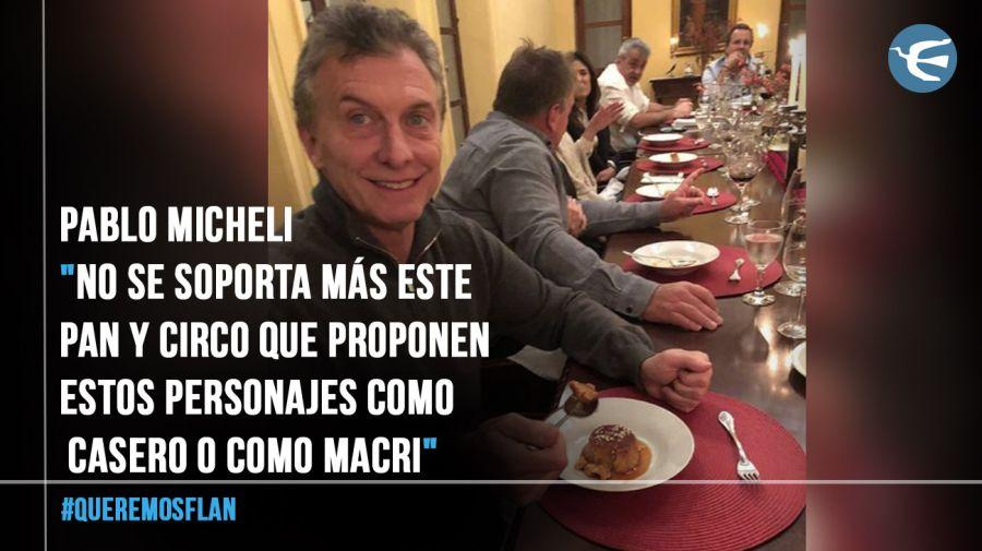 Mauricio Macri queremos flan