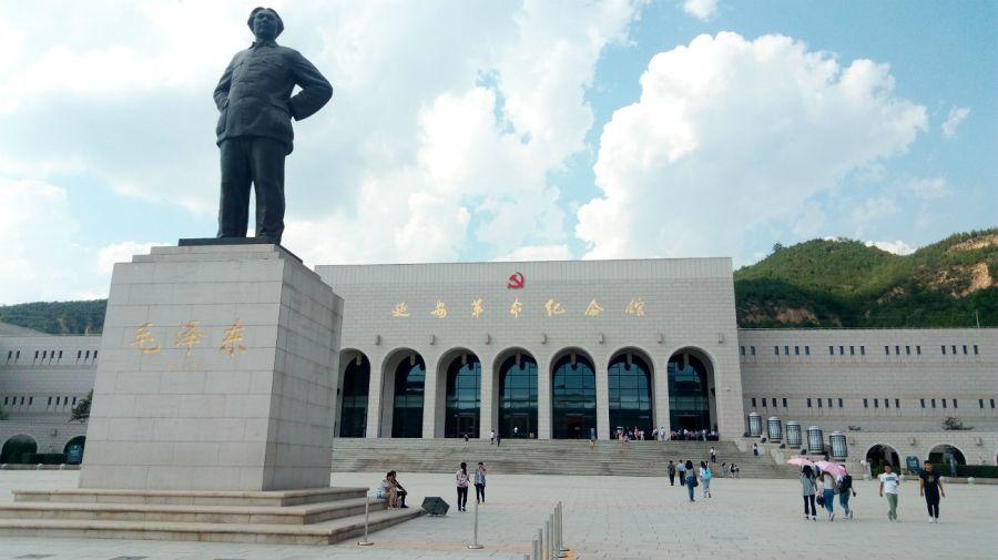 Monumento en la ciudad china de Yanan.